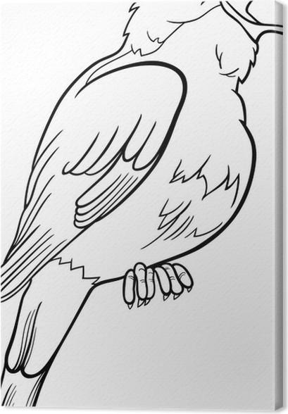 Cuadro en Lienzo Dibujo para colorear pájaro ruiseñor • Pixers ...