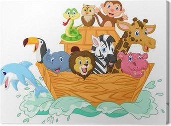 Cuadro En Lienzo Noé Arca De Dibujos Animados Pixers Vivimos