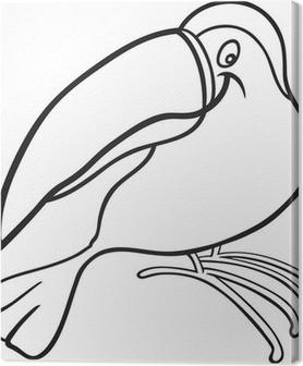 Cuadro En Lienzo Dibujos Animados Para Tucán Libro Para Colorear