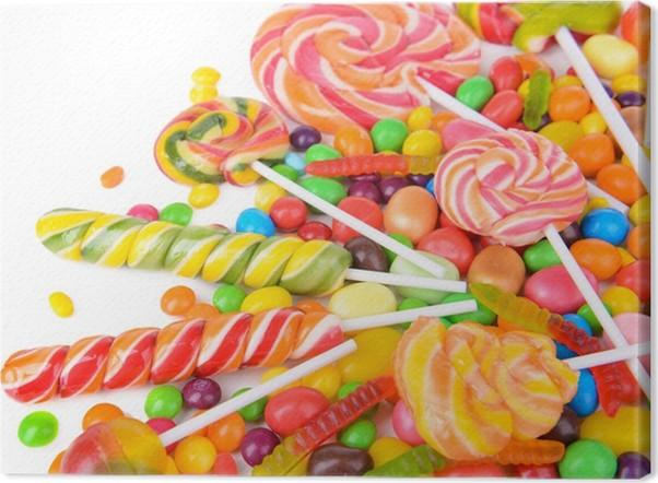 Cuadro En Lienzo Diferentes Colores De Frutas Dulces De Cerca - Cuadros-diferentes