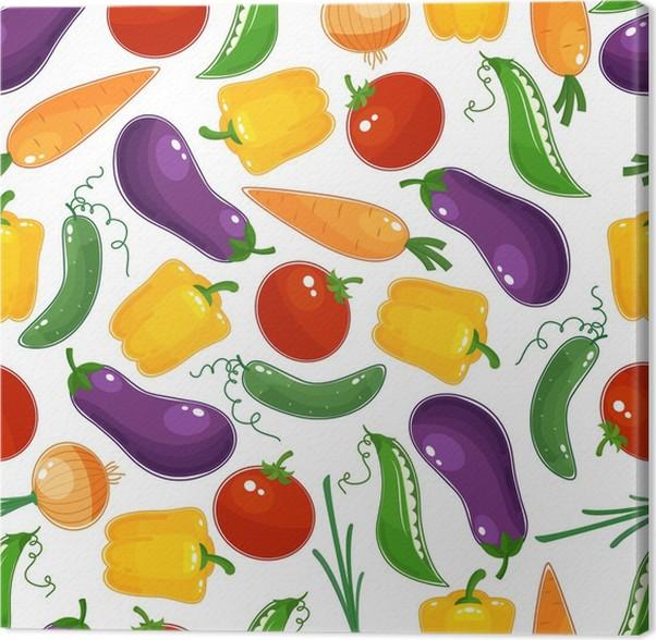 Cuadro en Lienzo Diseño de fondo transparente de verduras frescas ...