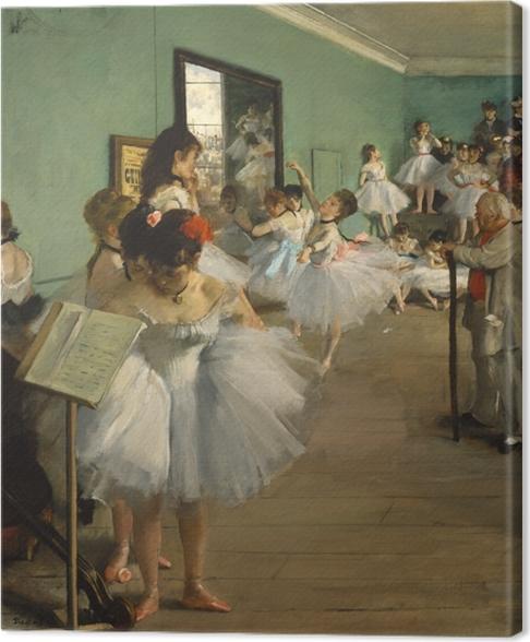 Cuadro en Lienzo Edgar Degas - Clase de baile - Reproducciones
