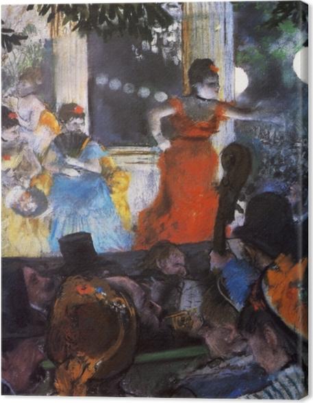 Cuadro en Lienzo Edgar Degas - Concierto en el Café Aux Ambassadeurs - Reproducciones