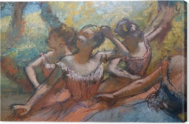 Cuadro en Lienzo Edgar Degas - Cuatro bailarines en el escenario - Reproducciones