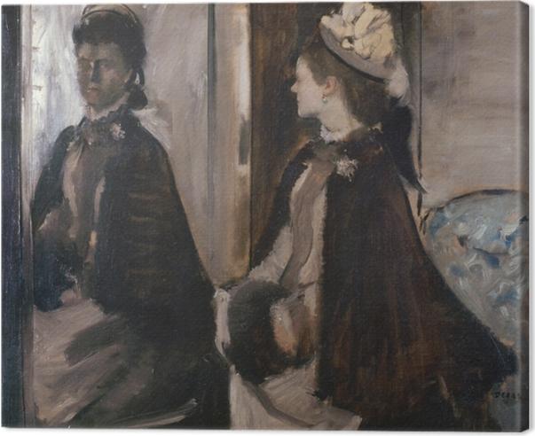 Cuadro en Lienzo Edgar Degas - Señora Jeantaud en el Espejo - Reproducciones
