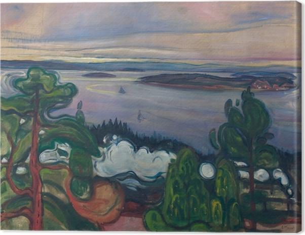 Cuadro en Lienzo Edvard Munch - Tren de humo - Reproducciones