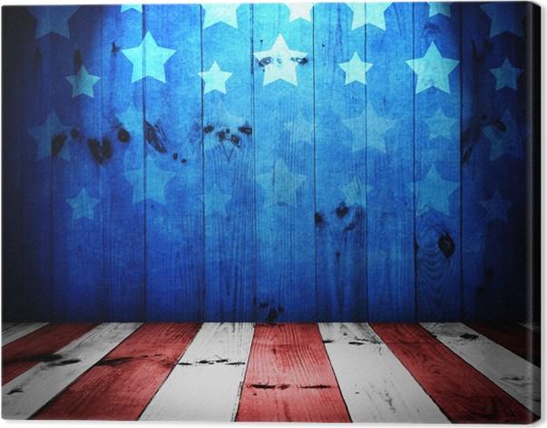 Cuadro en Lienzo EE.UU. estilo de fondo - mesa de madera vacía para ...