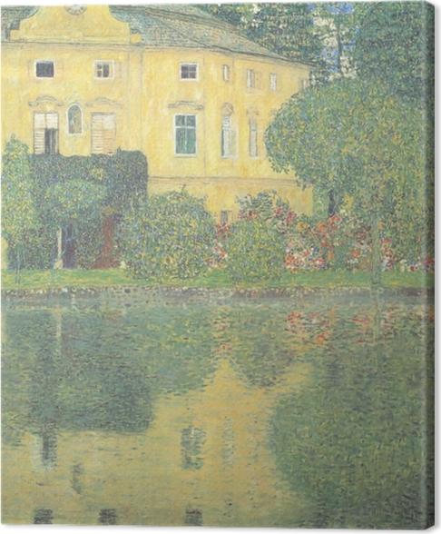 Cuadro en Lienzo Egon Schiele - Los árboles reflejados en un estanque - Reproducciones