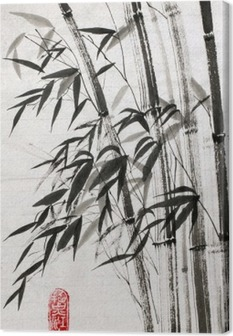 Cuadro en Lienzo El bambú es un símbolo de la longevidad y la prosperidad