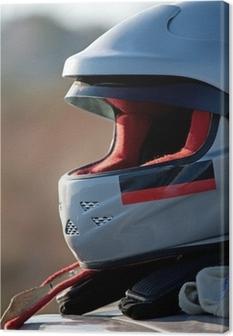Cuadro en Lienzo El casco de piloto de rally