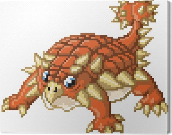 Cuadro en lienzo el dinosaurio lindo del arte del pixel anquilosaurio pixers vivimos para - Fotomurales pixel ...