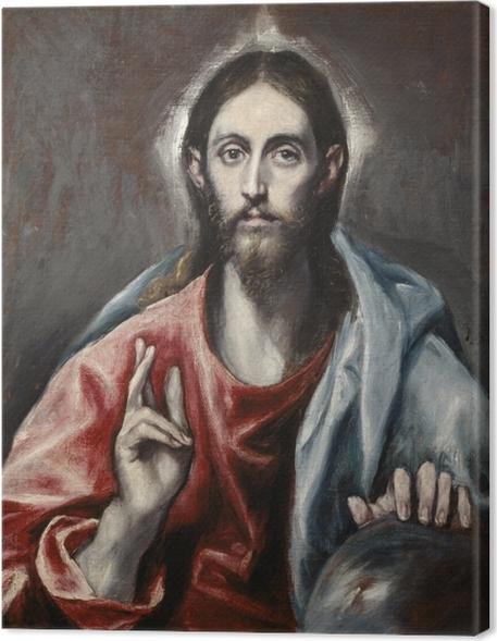 Cuadro en Lienzo El Greco - Bendición de Cristo - Reproducciones