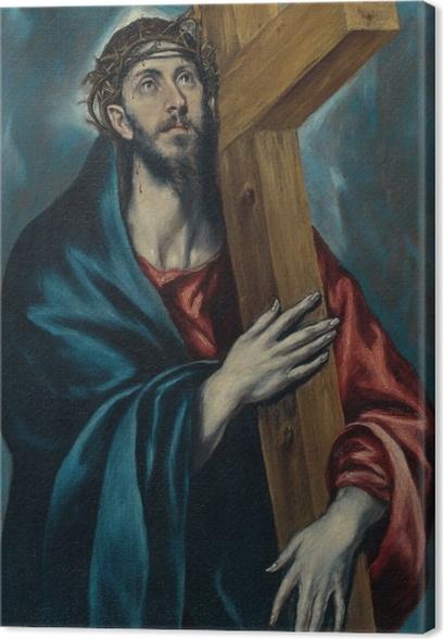 Cuadro en Lienzo El Greco - Cristo con la cruz - Reproducciones