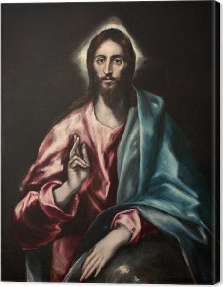 Cuadro en Lienzo El Greco - Salvator Mundi - Reproducciones