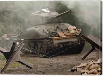 Cuadro en Lienzo El tanque de Sherman - WW II