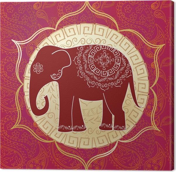 Cuadro en Lienzo Elefante indio con mandalas • Pixers® - Vivimos ...