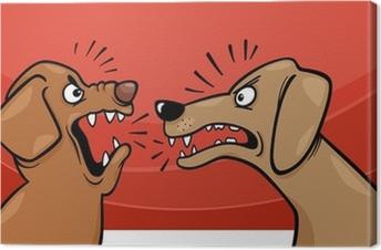 Enojado Ladrar Los Perros De Dibujos Animados