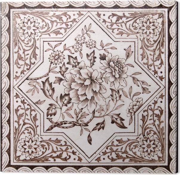 Cuadro en lienzo poca victoriana artes decorativas for Baldosas decorativas