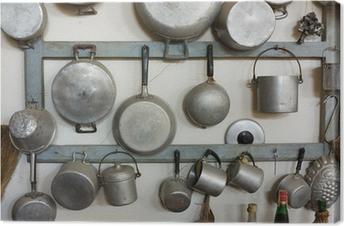Cuadro en Lienzo Equipo de la cocina antigua