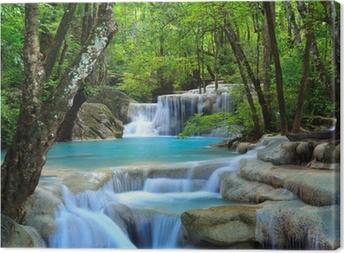 Cuadro en Lienzo Erawan Cascada, Kanchanaburi, Tailandia