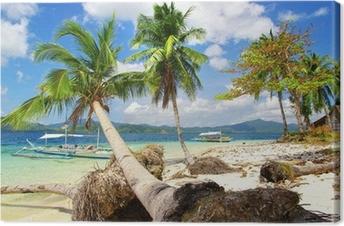 Cuadro en Lienzo Escena tropical de la isla