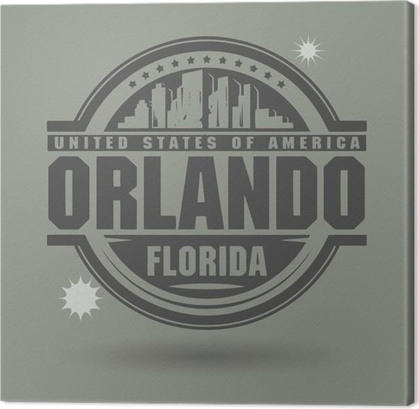 Cuadro en Lienzo Estampar o la etiqueta con el texto de Orlando ...