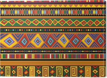 Cuadro en Lienzo Étnica patrón de colores de África étnico Arte-Colores Art África
