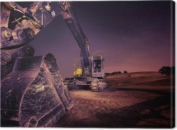 Cuadro en Lienzo Excavador