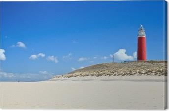 Cuadro en Lienzo Faro en las dunas en la playa