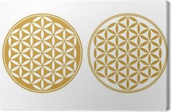 Cuadro en Lienzo Flor de la Vida - Icono de protección, la Geometría Sagrada