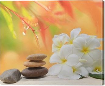 top cuadro en lienzo fondo de zen concepto de spa masaje de piedras zen con la with piedras zen - Piedras Zen