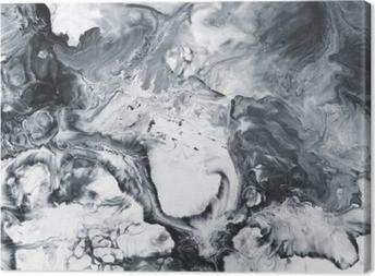 Cuadro en Lienzo Fondo pintado a mano abstracto de mármol blanco y negro