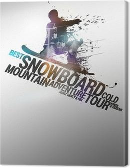 Cuadro en Lienzo Fondo Snowboard