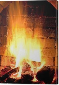 Cuadro en Lienzo Fuego en chimenea