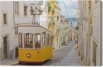 Cuadro en Lienzo Funicular de Lisboa Gloria conecta el centro con el Bairro Alto.