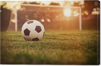 Cuadro en Lienzo Fútbol atardecer