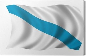 Cuadro en Lienzo Galicien fahne bandera de galicia