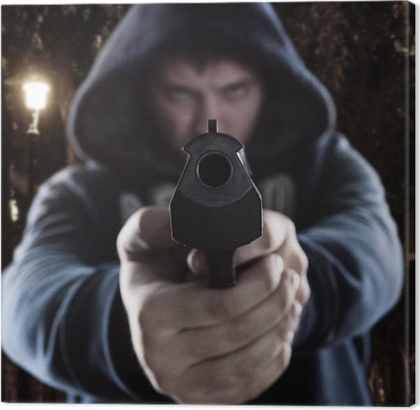 Cuadro en Lienzo Gángster con el arma • Pixers® - Vivimos para cambiar