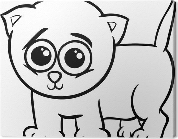 Cuadro en Lienzo Gatito del bebé para colorear de dibujos animados ...