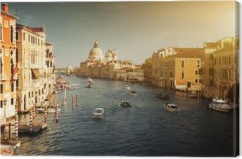 Cuadro en Lienzo Grand Canal y Santa Maria della Salute Basilica, Venecia, Italia