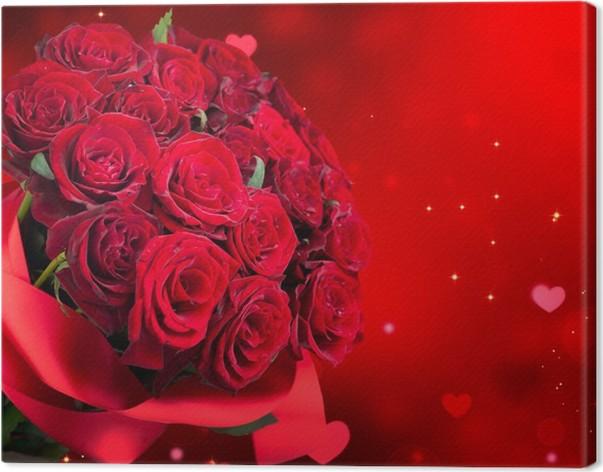 cuadro en lienzo grandes rosas rojas bouquet - Fotos De Rosas Rojas Grandes