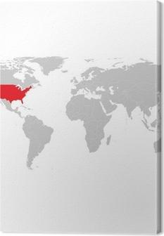 Cuadro en lienzo gray world political map vector pixers vivimos cuadro en lienzo gray world political map vector gumiabroncs Choice Image