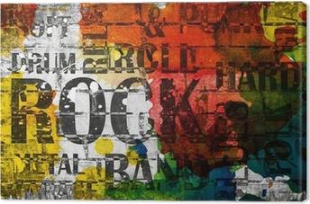 Cuadro en Lienzo Grunge roca cartel de la música