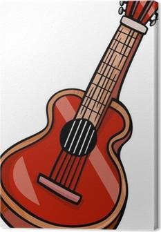 Guitarra Acústica Dibujos Animados Clip Art