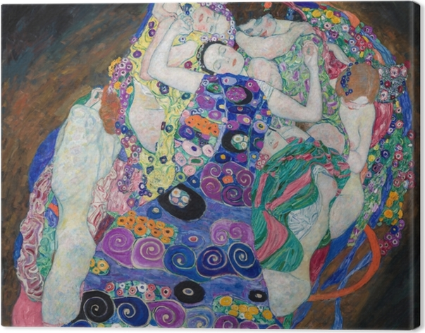 Cuadro en Lienzo Gustav Klimt - La doncella - Reproducciones