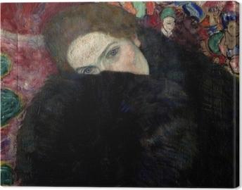 Cuadro en Lienzo Gustav Klimt - Señora con sombrero y boa de plumas