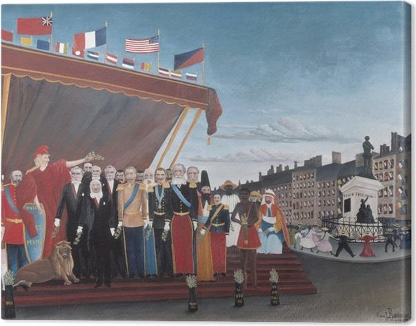 Cuadro en Lienzo Henri Rousseau - Los representantes de las potencias extranjeras que viene a saludar a la República como un signo de la paz - Reproducciones