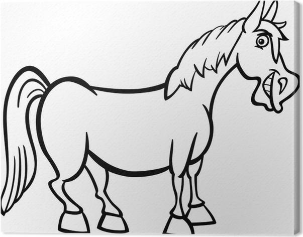 Cuadro en Lienzo Historieta del caballo granja de libro para ...