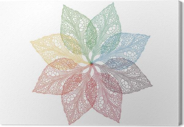 Cuadro en Lienzo Hojas de colores de primavera, vector • Pixers ...