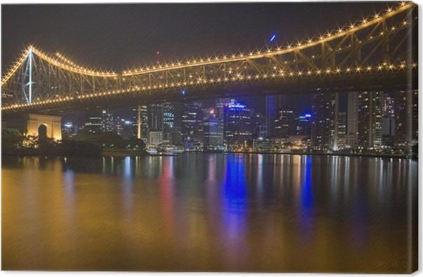Cuadro en Lienzo Horizonte de la ciudad de noche de Brisbane 1 ...